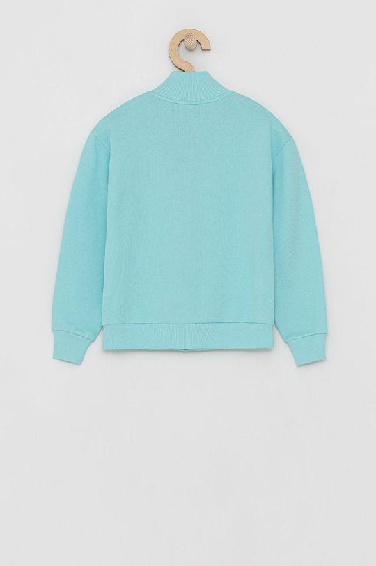 United Colors of Benetton - Dětská bavlněná mikina tyrkysová