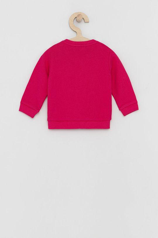 United Colors of Benetton - Dětská bavlněná mikina fuchsiová