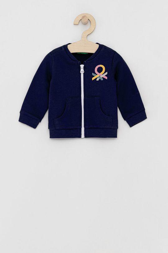 námořnická modř United Colors of Benetton - Dětská bavlněná mikina Dívčí
