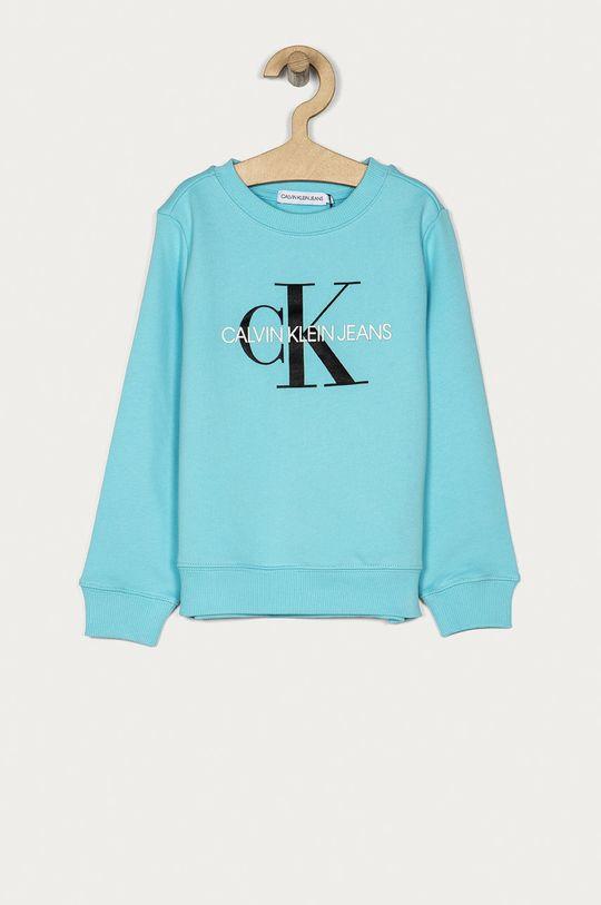 světle modrá Calvin Klein Jeans - Dětská bavlněná mikina 104-176 cm Dětský