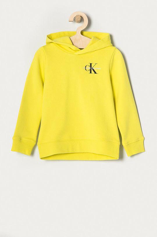 jasny żółty Calvin Klein Jeans - Bluza bawełniana dziecięca 104-176 cm Dziecięcy