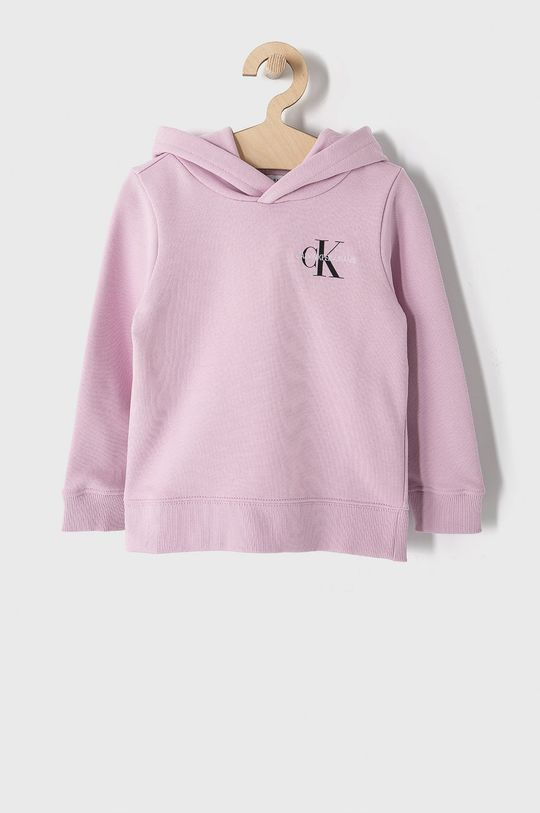 růžová Calvin Klein Jeans - Dětská bavlněná mikina 104-176 cm Dětský