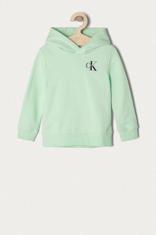 miętowy Calvin Klein Jeans - Bluza bawełniana dziecięca 104-176 cm Dziecięcy