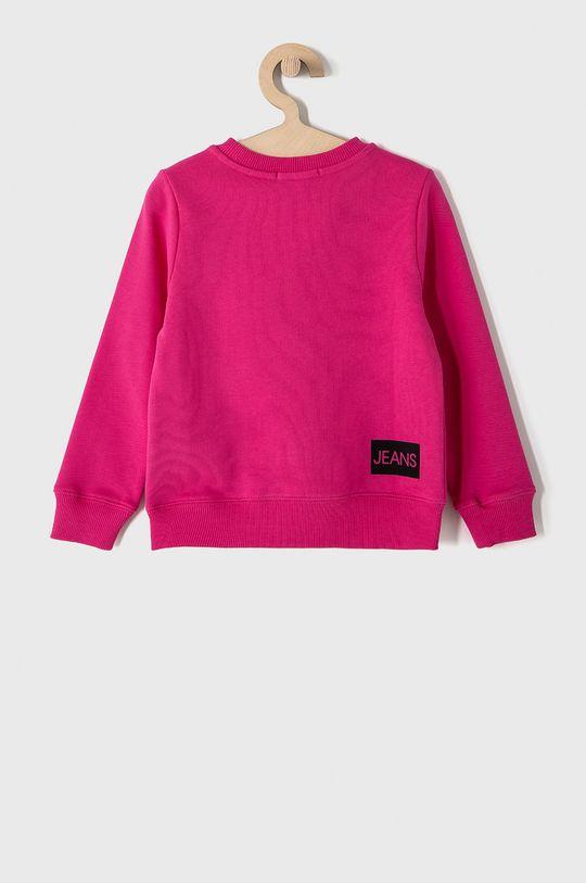 Calvin Klein Jeans - Dětská bavlněná mikina 104-176 cm. ostrá růžová