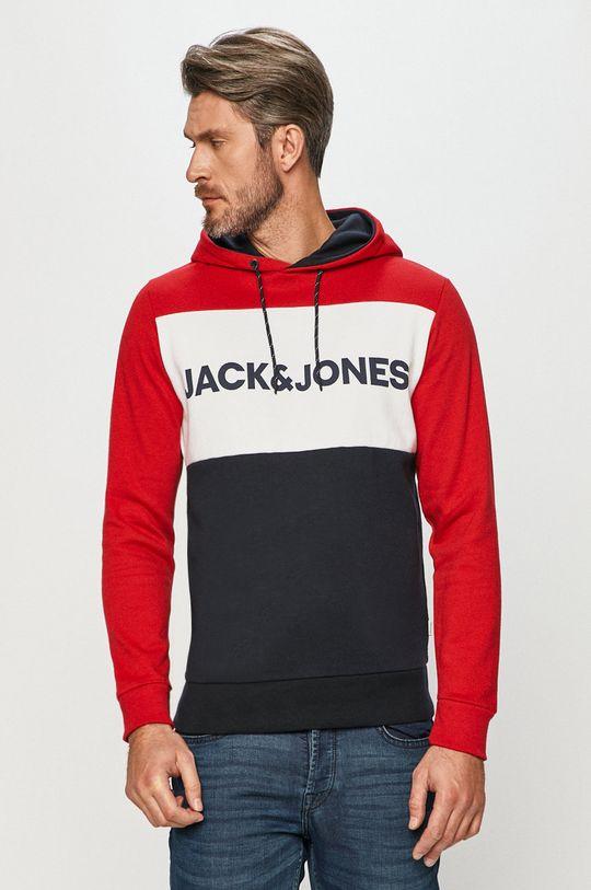 czerwony Jack & Jones - Bluza Męski