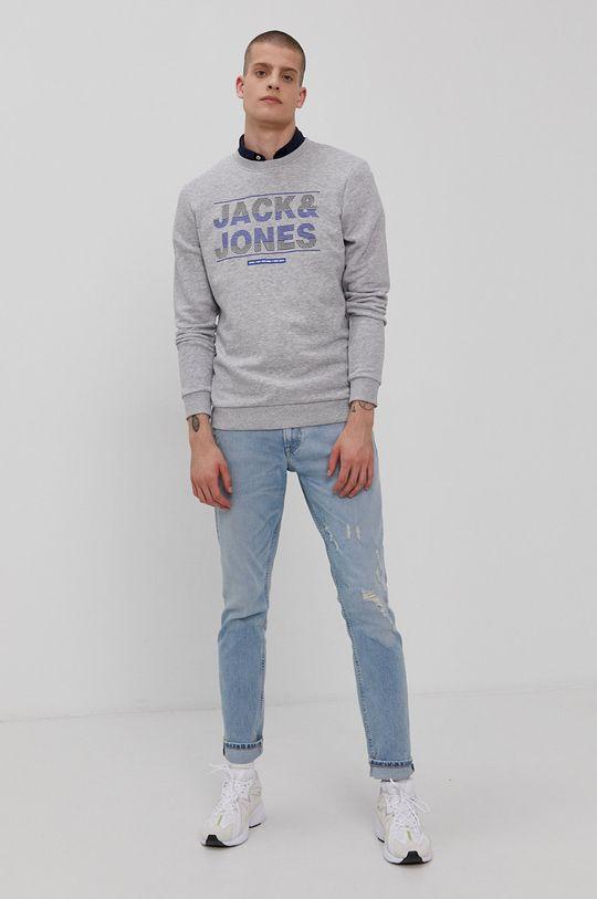 Jack & Jones - Mikina světle šedá