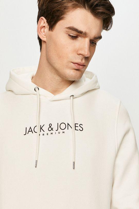 bílá Premium by Jack&Jones - Bavlněná mikina