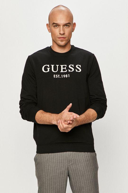 czarny Guess - Bluza Męski