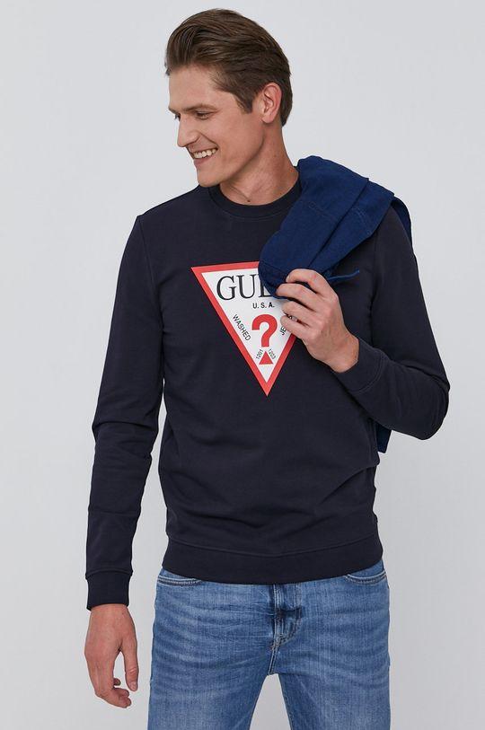 granatowy Guess - Bluza Męski