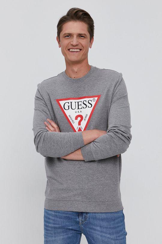 szary Guess - Bluza Męski
