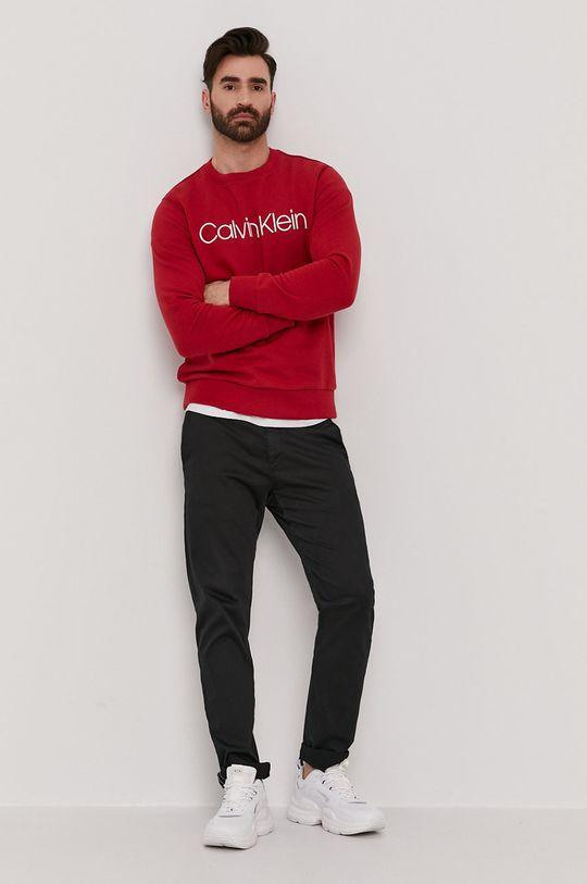 czerwony Calvin Klein - Bluza Męski