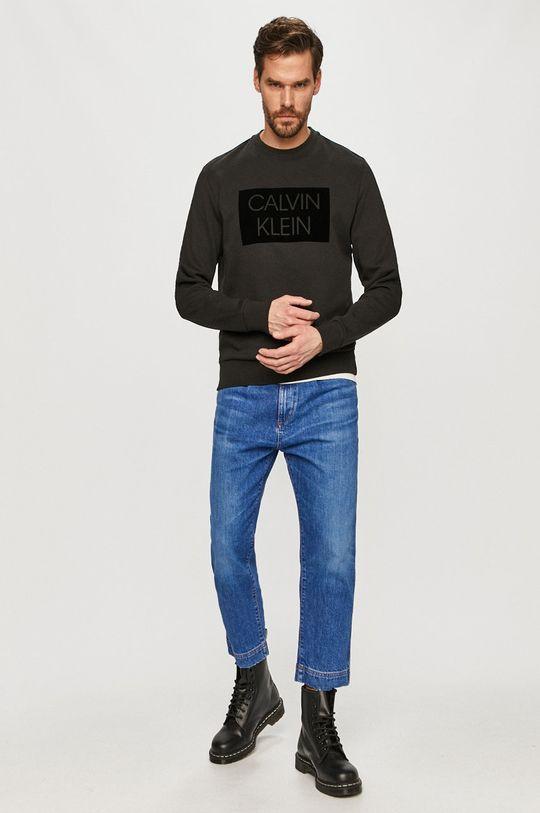 Calvin Klein - Bavlnená mikina čierna