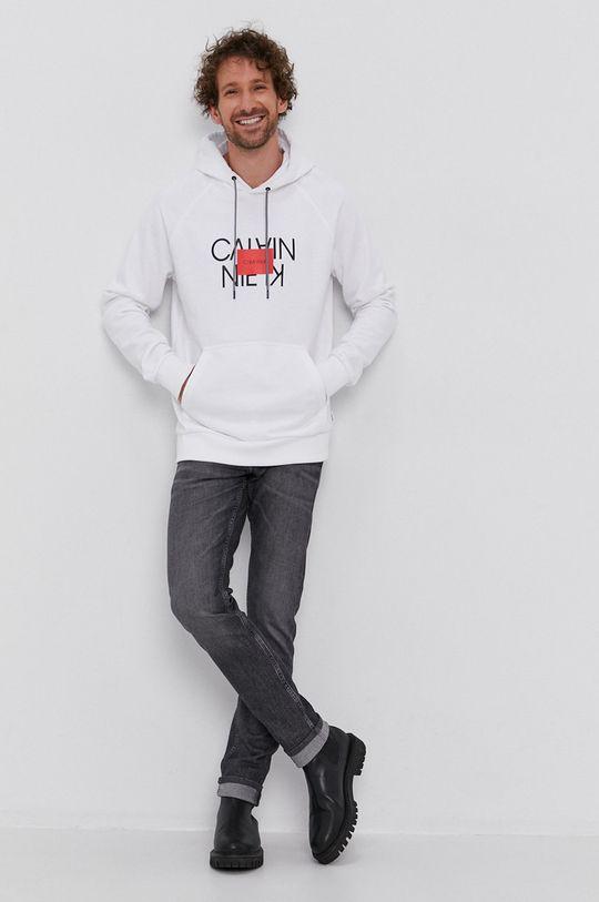 Calvin Klein - Bluza bawełniana biały