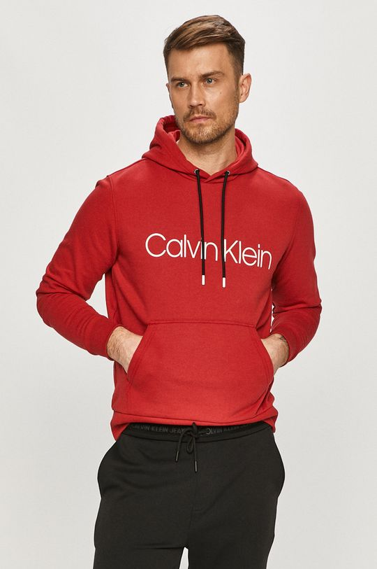 czerwony Calvin Klein - Bluza bawełniana Męski