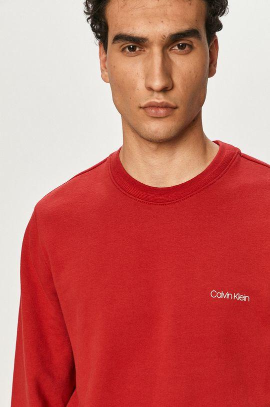 červená Calvin Klein - Bavlnená mikina