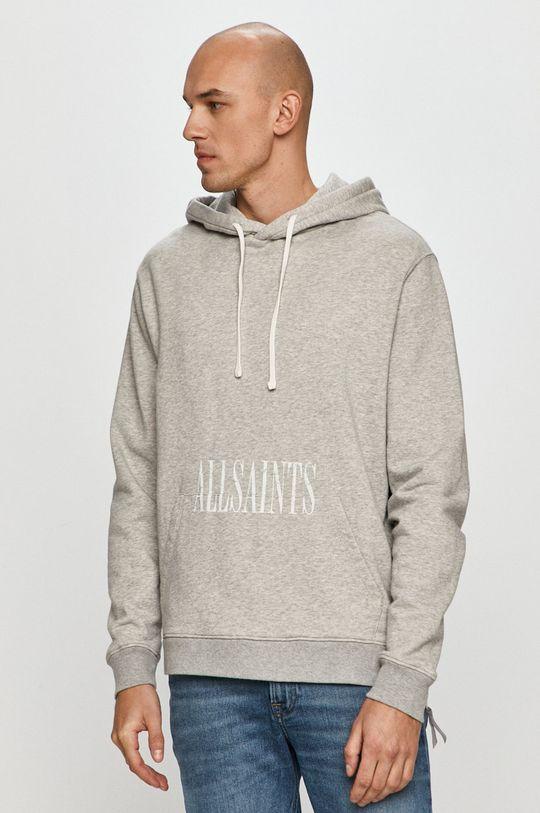 szary AllSaints - Bluza bawełniana Męski