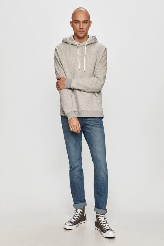 AllSaints - Bluza bawełniana szary
