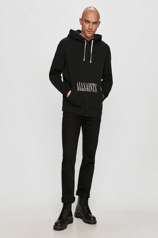 AllSaints - Bavlněná mikina černá