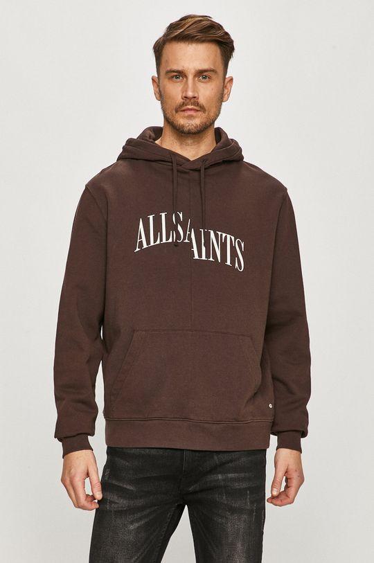 kasztanowy AllSaints - Bluza bawełniana Męski