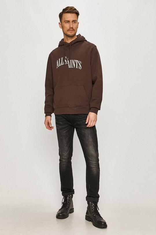 AllSaints - Bluza bawełniana kasztanowy