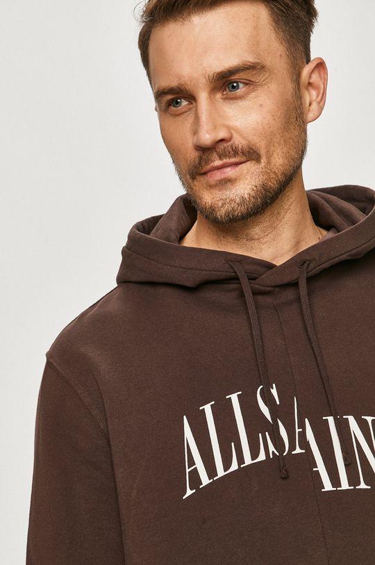 kasztanowy AllSaints - Bluza bawełniana
