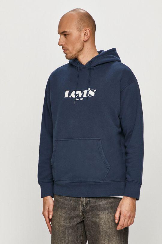 granatowy Levi's - Bluza bawełniana Męski