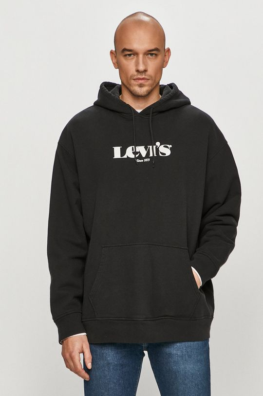černá Levi's - Bavlněná mikina Pánský
