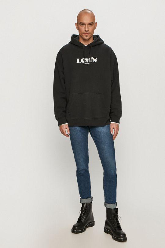 Levi's - Bavlněná mikina černá