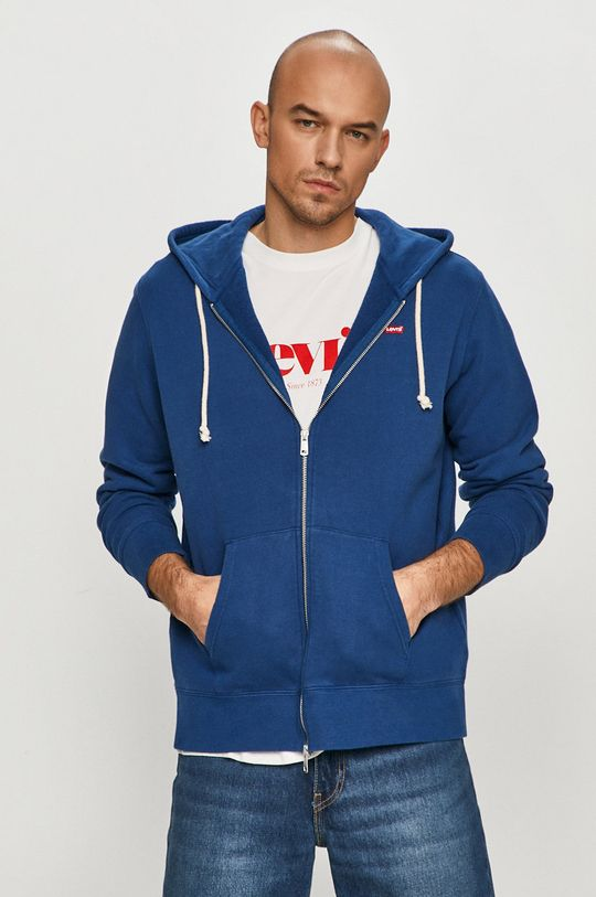 niebieski Levi's - Bluza bawełniana Męski