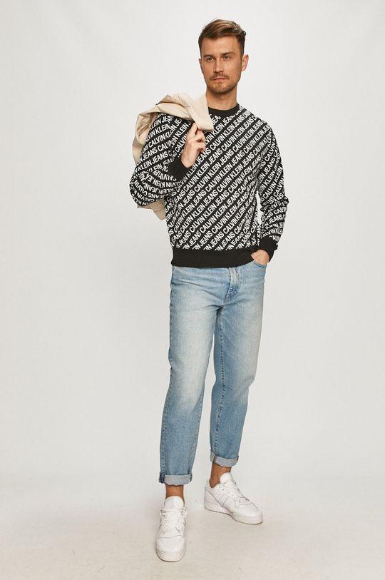 čierna Calvin Klein Jeans - Mikina Pánsky