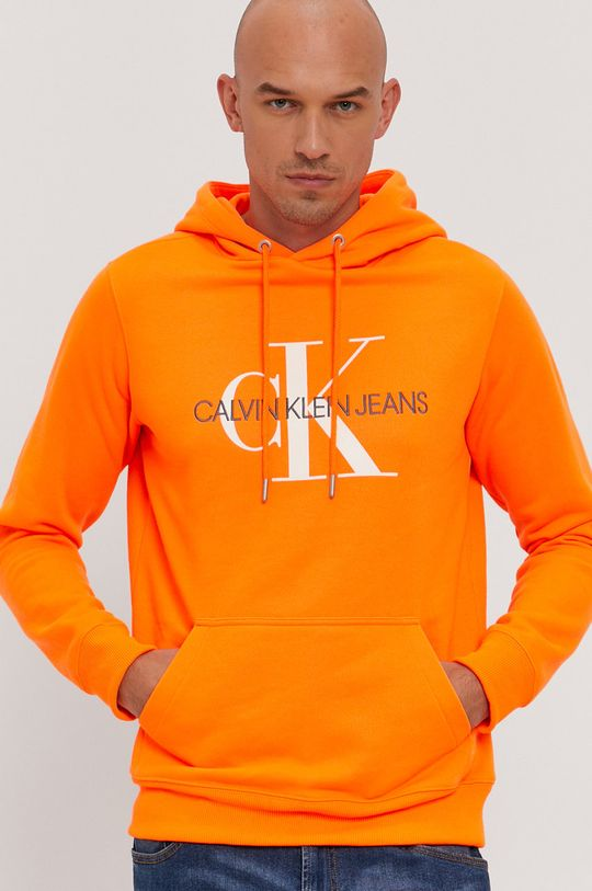 pomarańczowy Calvin Klein Jeans - Bluza bawełniana Męski