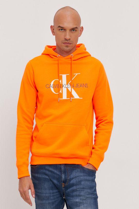 pomarańczowy Calvin Klein Jeans - Bluza bawełniana
