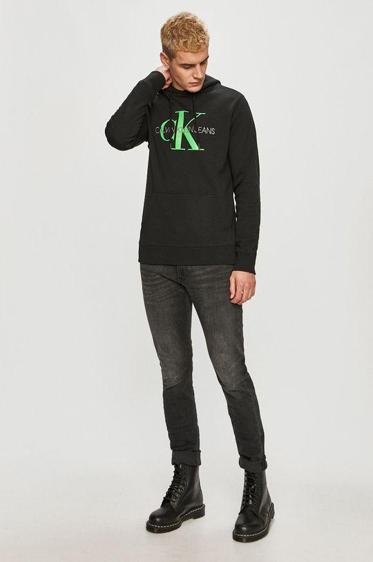 čierna Calvin Klein Jeans - Bavlnená mikina
