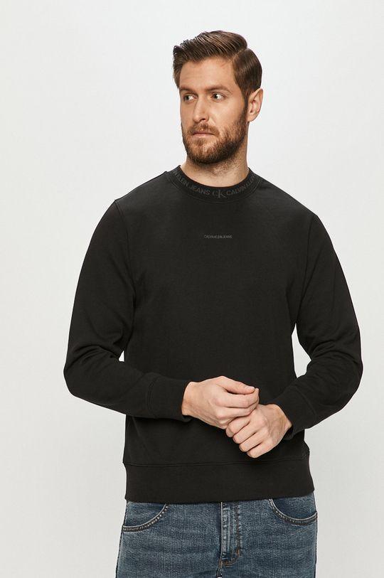 negru Calvin Klein Jeans - Hanorac de bumbac De bărbați