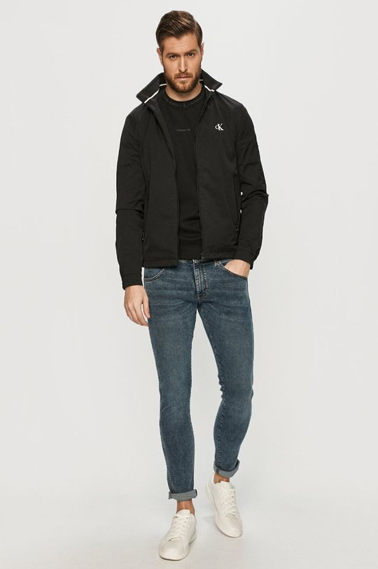 Calvin Klein Jeans - Hanorac de bumbac negru