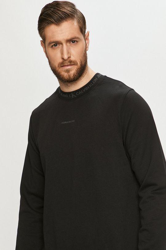 negru Calvin Klein Jeans - Hanorac de bumbac