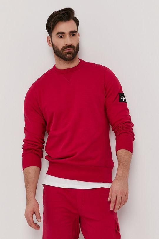 różowy Calvin Klein Jeans - Bluza bawełniana Męski