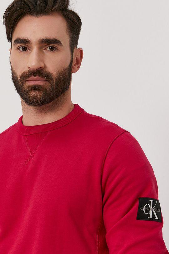 różowy Calvin Klein Jeans - Bluza bawełniana