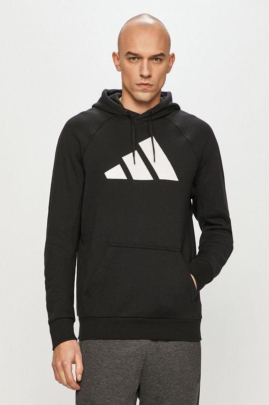czarny adidas Performance - Bluza bawełniana Męski