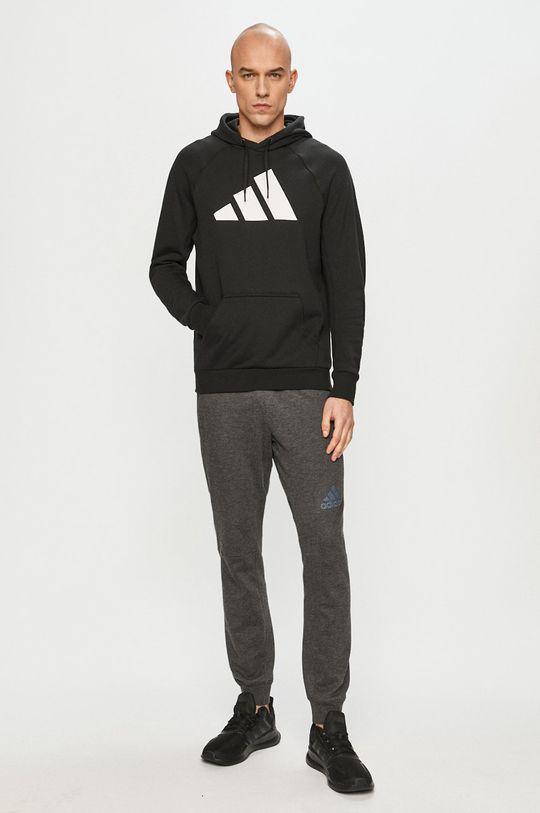 adidas Performance - Bluza bawełniana czarny