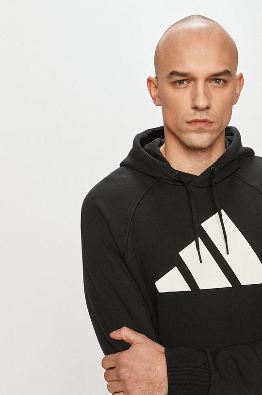 czarny adidas Performance - Bluza bawełniana