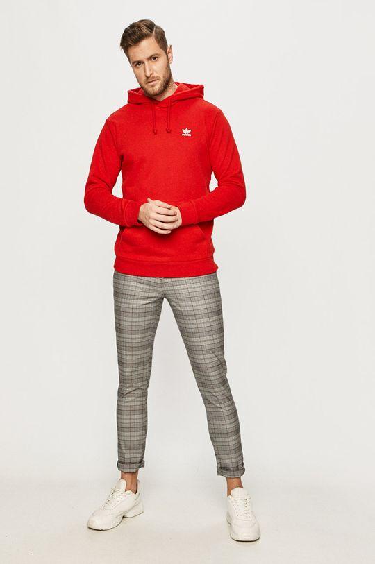 adidas Originals - Bavlněná mikina červená