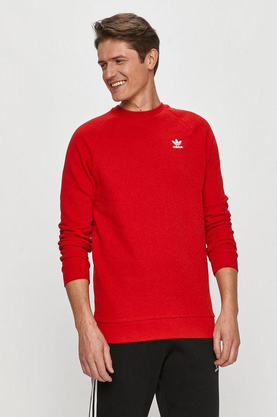 červená adidas Originals - Bavlnená mikina Pánsky