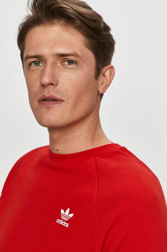 červená adidas Originals - Bavlnená mikina