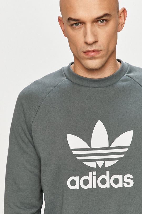 ocelová modrá adidas Originals - Bavlněná mikina
