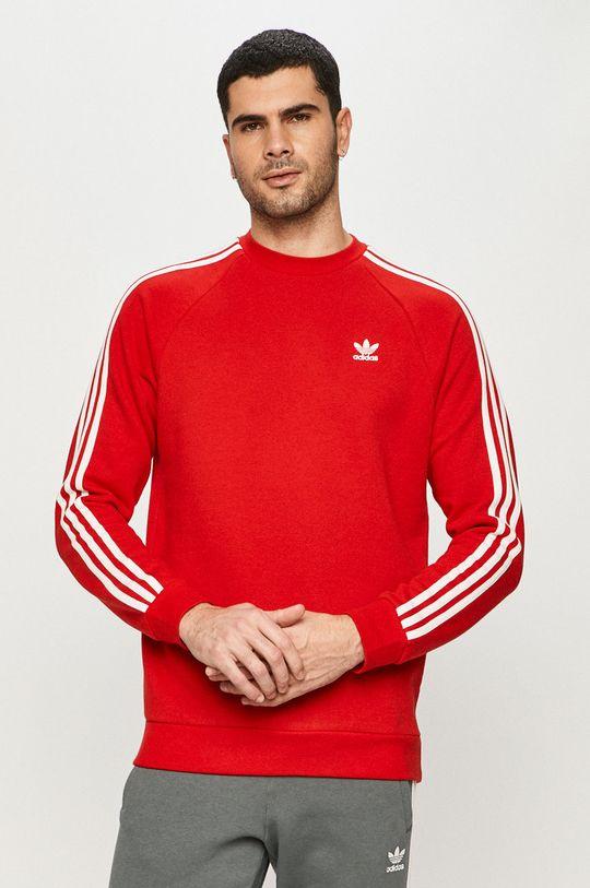 červená adidas Originals - Mikina Pánsky