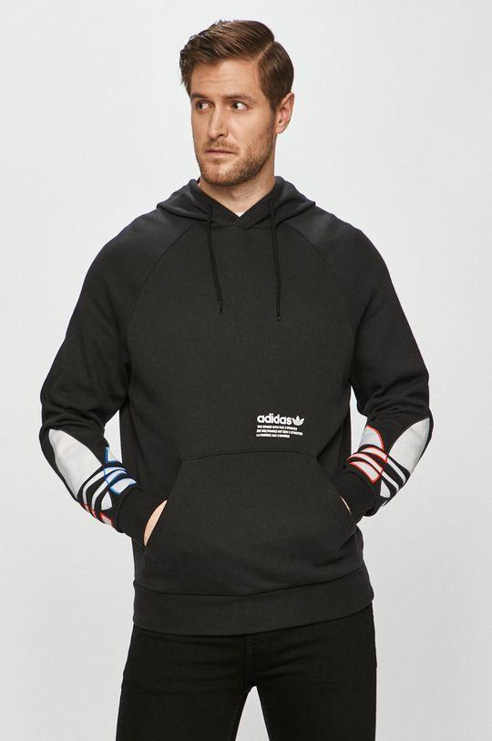 černá adidas Originals - Bavlněná mikina Pánský