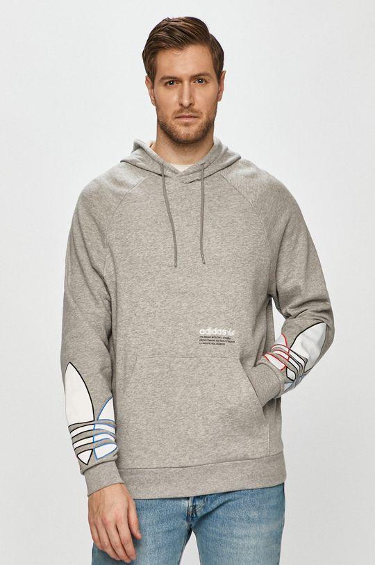 jasny szary adidas Originals - Bluza bawełniana Męski