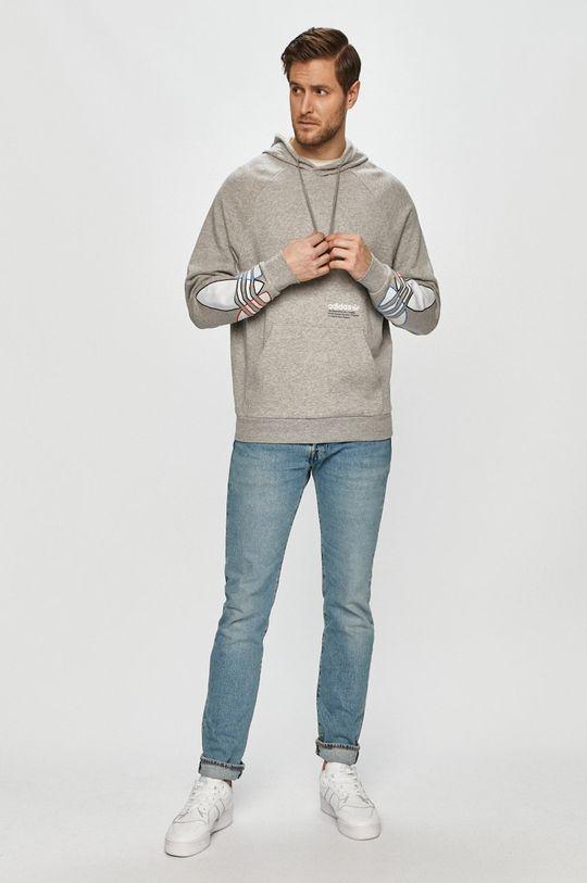 adidas Originals - Bluza bawełniana jasny szary