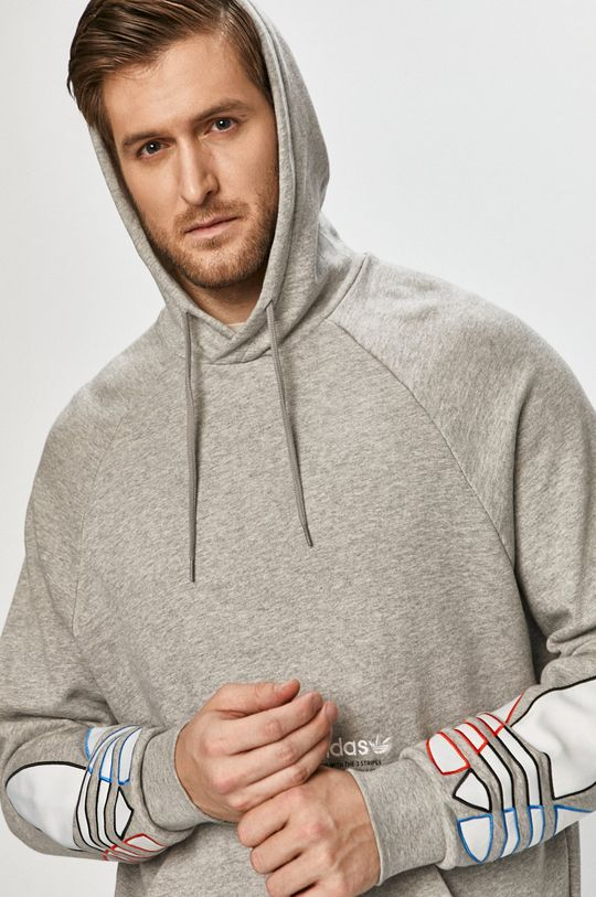 jasny szary adidas Originals - Bluza bawełniana